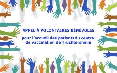 Appel à volontaires bénévoles pour le centre de vaccination de Truchtersheim
